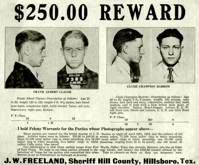 Clyde's Wanted Poster